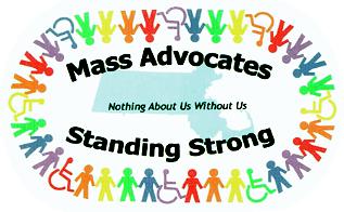 Mass Self Advocates Standing Strong Logo