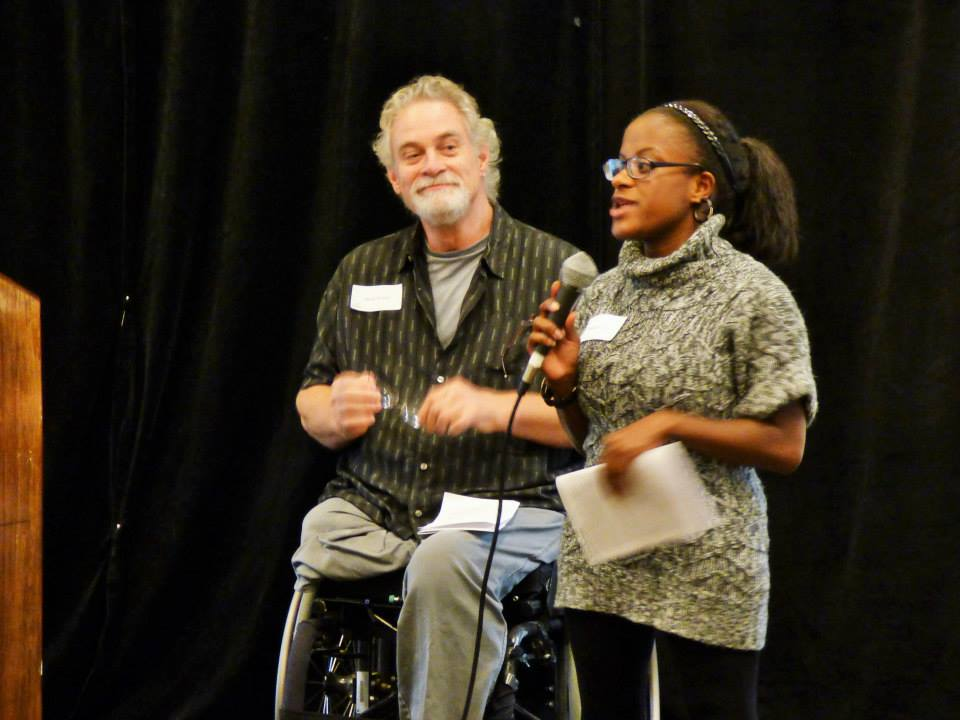 Jennifer Lee speaks about her experiences interning at Stavros. In this picture she is presented a 2014 Access Award. This picture was taken at the event by Nancy Bazanchuk of CHD, Disability Resource Program, Springfield MA