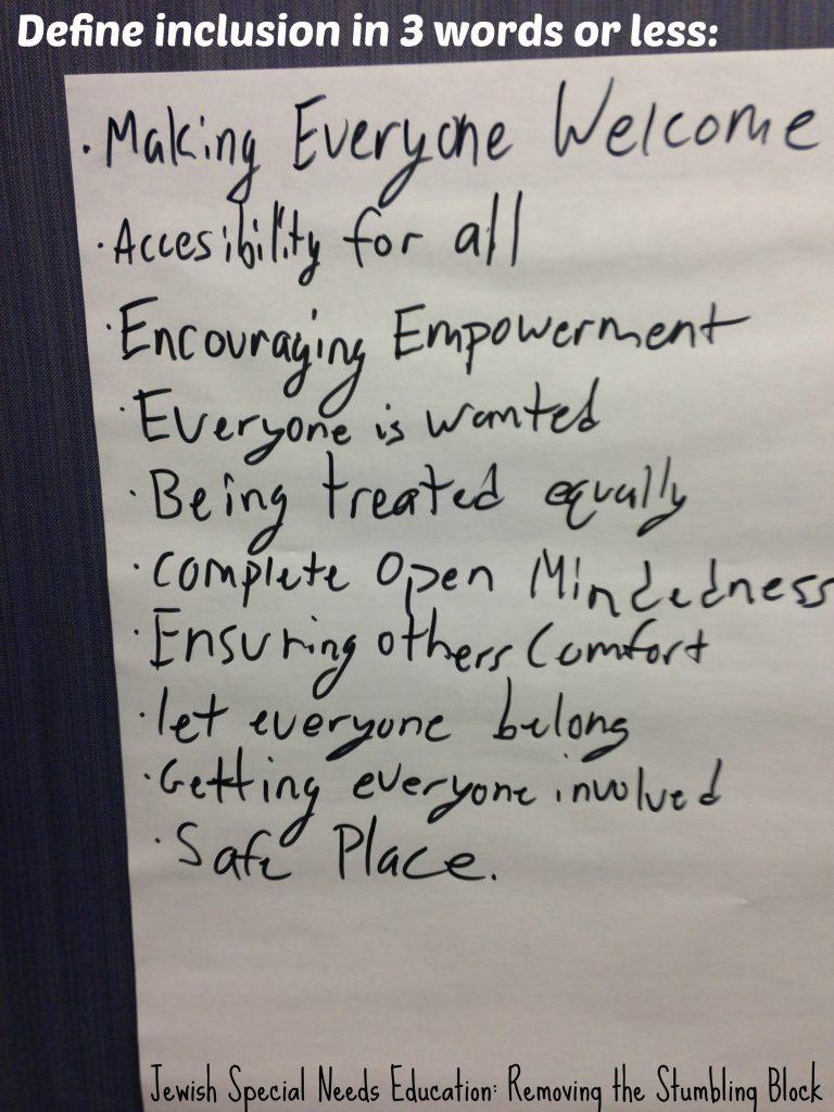 defining inclusion