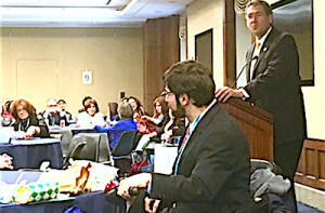 Rep. Gregg Harper addressing Jewish Disability Advocacy Day on Capitol Hill