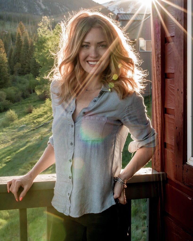 Amy Purdy taking a break from one of her many time-demanding projects (photo credit: Julianne O'Neil)