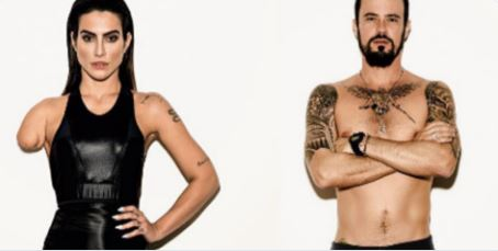 Two able-bodied actors- Cleo Pires and Paulo Vilhena- were photoshopped in order to portray Paralympic athletes with disability for Vogue Brazil. (photo credit: Twitter Screenshot)